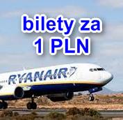 bilety Ryanair za 1 PLN
