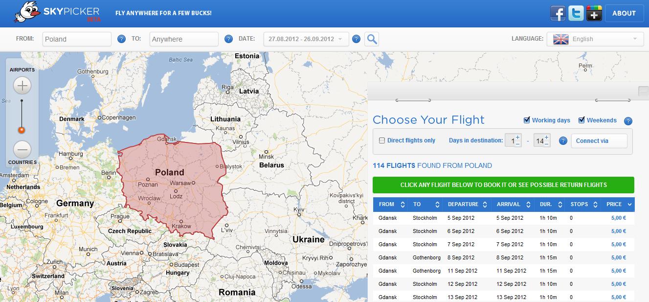 skypicker nowa wyszukiwarka biletów lotniczych