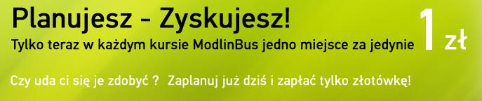 Promocja ModlinBus bilety za złotówkę