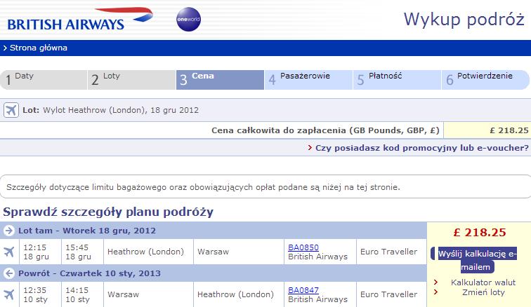 Lot Londyn Warszawa Londyn