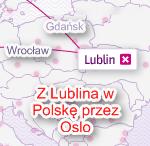 Kombinowane loty krajowe z Lublina i do Lublina. Jak się nie ma co się lubi, to się lubi co się ma