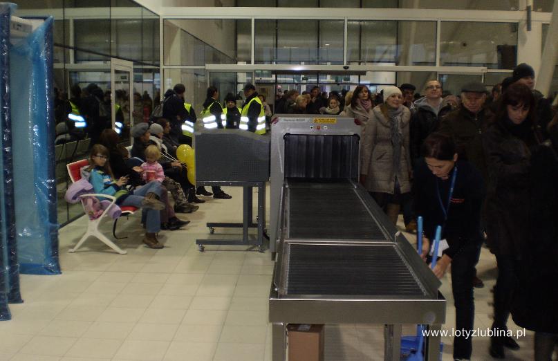 Airport Lublin scanner bagażu
