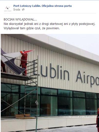 Bocian Lotniska Lublin