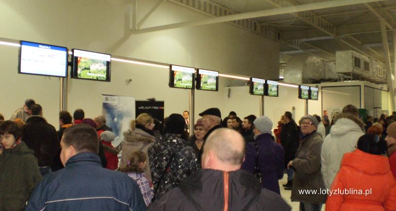 Lotnisko Lublin hala przylotów