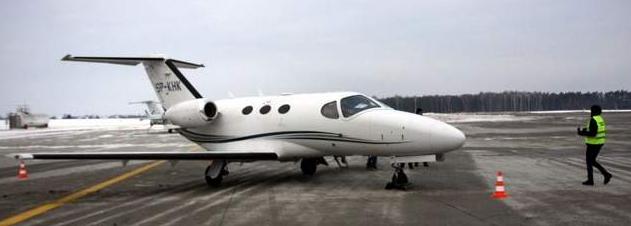 Pierwsze powietrzne taxi na lubelskim lotnisku
