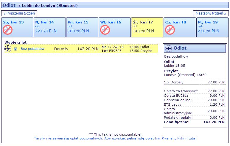 Ryanair z Lublina do Londynu