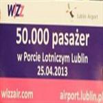 50000 pasazer Airport Lublin