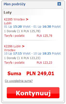 tanie bilety Wrocław Lublin