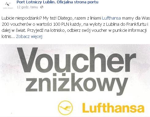 voucher Lufthansy z Lublina
