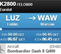Loty z Lublina do Warszawy
