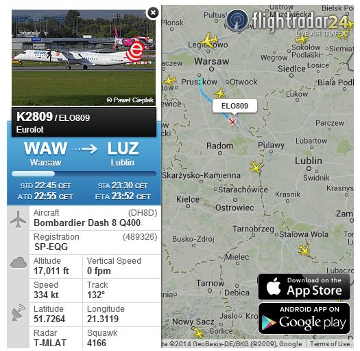 oty z Warszawy do Lublina