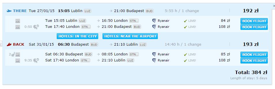 Z Lublina do Budapesztu