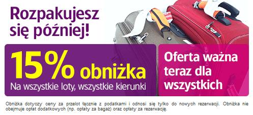 15 procent dla wszystkich od Wizz Air