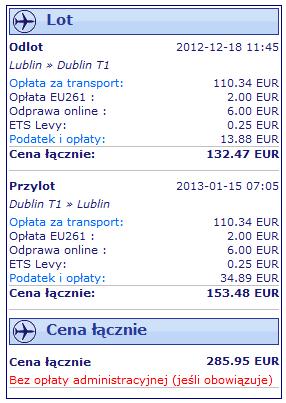Ryanair z Airport Lublin