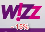 minus 15 procent rabatu na bilety Wizz Air