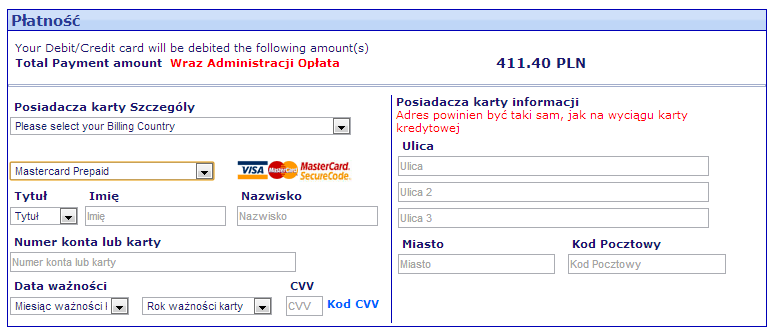 MasterCard Prepaid. Bilety Ryanair'a z rabatem