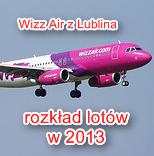 Wizz Air z Lublina rozkład lotów w 2013 roku