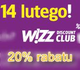 14 lutego rabat Wizz Air