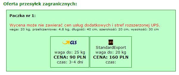 GLS i UPS z Lublina