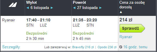 loty z Londynu do Lublina
