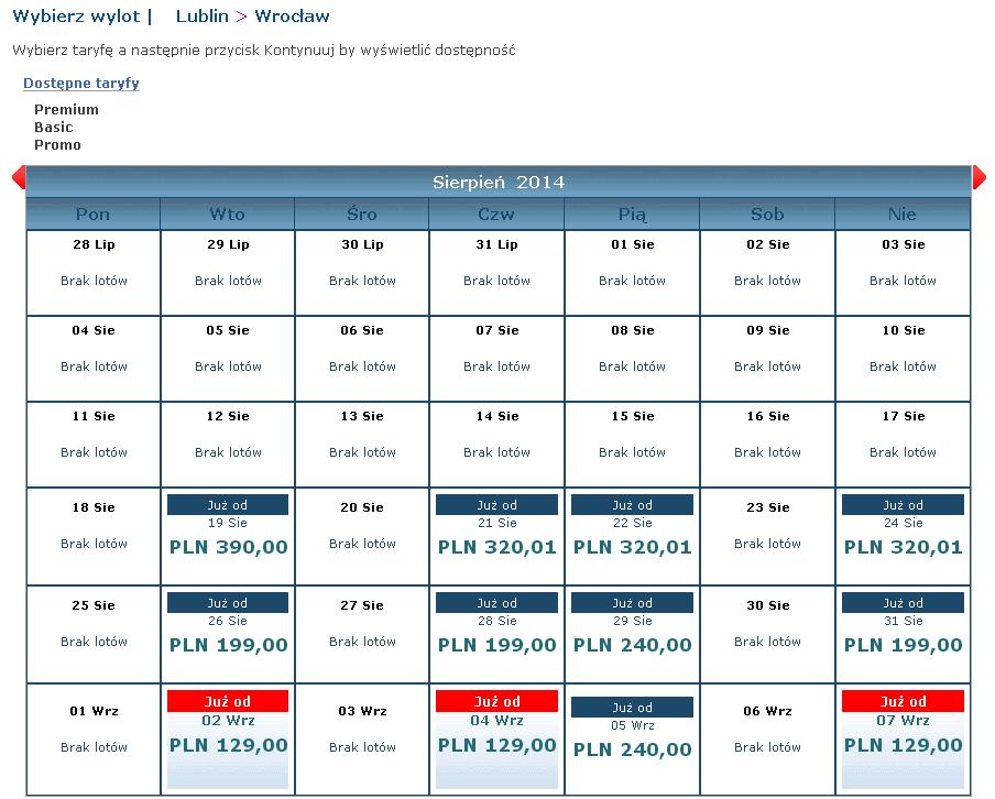 tanie bilety Eurolotu wyszukiwanie