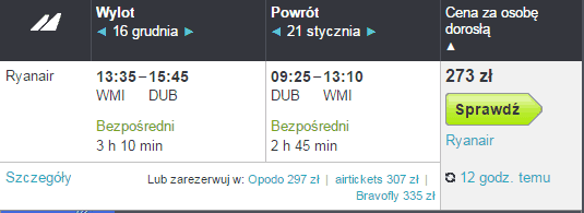 Tanie loty z Warszawa Modlin do Dublin w Skyscanner