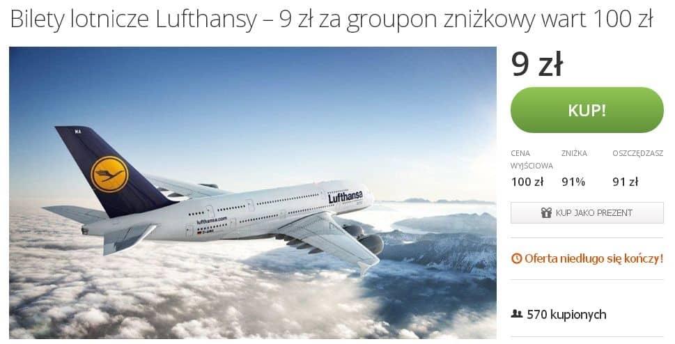 Lufthansa Oferta Dnia   Groupon
