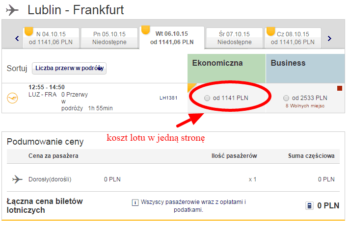 Lublin Frankfurt Lufthansa
